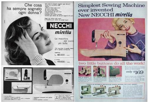 Necchi - Мирелла (1956) - прототип Necchi 3323A Anniversary Edition